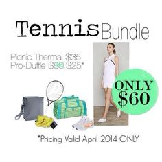 I know I have a lot of Tennis fans... This one is for you! Bundle and save in April.