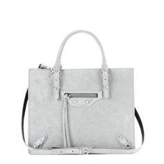Balenciaga - Mini Papier A4 Zip-Around suede shoulder bag