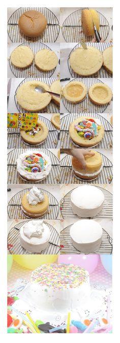 Escuela de Cupcakes: Tutorial Piñata Cake