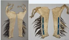 Blackfoot leggings ca 1840.  Coll. by Count D'otranto at Ft. McKenzie.  Ethan. Mus. Stockholm
