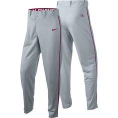 Nike Boys' Swingman Dri-FIT Piped Baseball Pants, Size: Medium, Gray