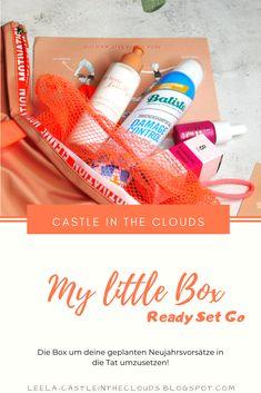 {My little Box} Ready Set Go - Januar 2020 Beauty Box, Little Boxes, Beauty Review, Tricks, German, Make Up, Castle, Clouds, Content