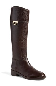 Crushing on these tall, rich grained leather riding boot by Tory Burch.  Style with jeans and long cardigan for an effortless autumn ensemble.