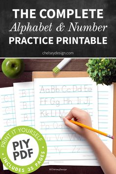 This high-resolution pdf has been professionally designed to help kids practice their complete alphabet and number printing. The only worksheets you'll need for practicing the alphabet and numbers! Creative Lettering, Math Fractions, Help Kids, Alphabet And Numbers, Kids Playing, Kid Stuff, Worksheets, Homeschool, Language