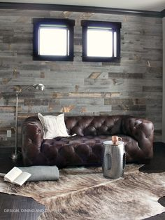 Rustic Masculine Office Space