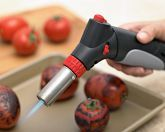 I love kitchen gadgets! This little torch would be great for pots de creme and creme brulee...