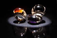 ANEL   Prata e ouro com cornalina/ametista/onix. RING   Silver and 9kts gold with carnelian/amethyste/onyx. AN0383 #MarcoCruzJoalheiro #Jewelry #Joias #Classic #Portugal #Silver #Jewels