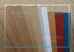 Surtido en papeles Kraft (vintage) - Blanc & Blue Design