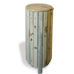 Rustic Litter Bin | Falco Ltd