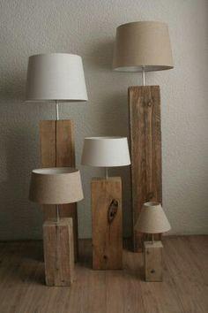 Massief houten lampen