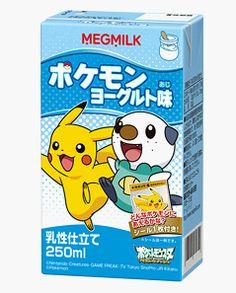 MegMilk Snow Brand Pokemon Drinks
