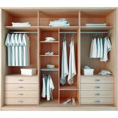 Manhattan Comfort 8 Drawer Noho 3 Door Wardrobe in Oak Vanilla and Nude/ Pro-Touch/Metallic Nude Wardrobe Organisation, Wardrobe Storage, Wardrobe Closet, Built In Wardrobe, Closet Organization, Wardrobe Ideas, Three Door Wardrobe, Storage Room, Closet Ideas