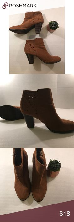 American Eagle Brown Suede Booties-  Size 10 American Eagle Brown Suede Booties- Regular Size 10  Heel Height: 3.5 American Eagle Outfitters Shoes Ankle Boots & Booties
