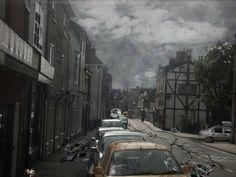 destroyed city after the war (SkyWorld story)