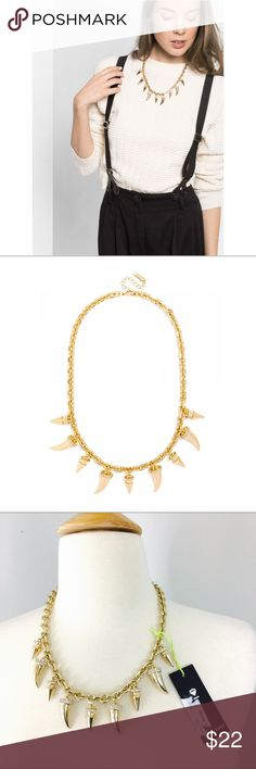 🆕 BAUBLEBAR Gold Spike Horn Necklace Brand new with tags, extendable chain ✨ BAUBLEBAR Jewelry Necklaces