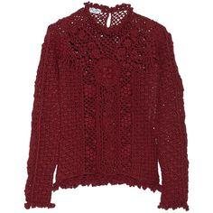 Oscar de la Renta women's open-knit cashmere sweater ❤ liked on Polyvore featuring tops, sweaters, wool cashmere sweater, open knit sweater, open knit top, cashmere sweater and oscar de la renta top