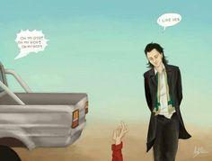 Thor, Loki and Jane
