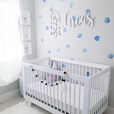 Sweet and simple wins every time. 🙌 These watercolor dot decals are the SWEETEST and are a top-seller in our #PNshop. Pssst: Don't forget to use code '2018DECOR' at checkout for 15% off wall decals, wallpaper + rugs thru 2/21. 📸: @littlebabyluca - love this room!!