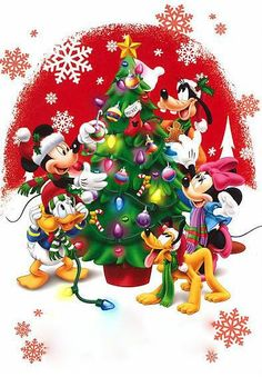 Christmas Tree Cartoon Disney Mickey Mouse 55 Ideas For 2019 Mickey Mouse Christmas, Mickey Mouse And Friends, Minnie Mouse, Disney Merry Christmas, Christmas Centerpieces, Holiday Decor, Christmas Scenes, Noel Christmas, Disney Worlds