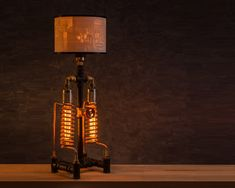 Table lamp / Desk lamp / Steampunk lamp / Rustic home decor / Home decor / Industrial lighting / Lithophane lamp / Pipe lamp by TrUbanCrafts on Etsy Industrial Lighting, Decor Industrial, Desk Lamp, Table Lamp, Handmade Lamps, Rustic Lamps, Steampunk Lamp, Upcycled Home Decor, Pipe Lamp