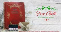 Orders $100 or more will receive a FREE Wishes & Dreams, Red Velvet & Country Christmas Essential Oil Blends with the order and a copy of Saint Nicholas, A Christmas Story. (Through December 17, 2017 or while supplies last. MRP and Auto-Delivery orders not eligible)
