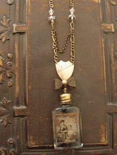 Colliers de bouteille de parfum | perfume bottle necklace