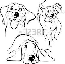 Resultado de imagen para dibujos lineales de  cabezas de perros
