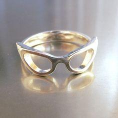 Image of Cat-Eye Glasses Ring