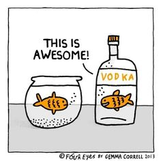 Gold-vodka-fish