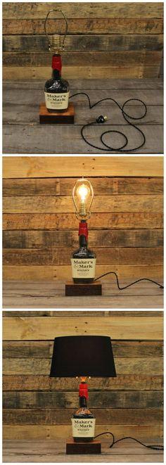 Maker's Mark Whisky Bottle Table Lamp
