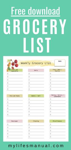 Free Weekly Meal Planner with a Grocery List, Instant Pot Recipes and a Simple Meal Planning PDF Guide Budget Meal Planning, Meal Planning Printable, Food Budget, Meal Planing, Budget Recipes, Free Meal Planner, Free Groceries, Grocery Lists, Shopping Lists