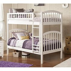 atlantic furniture richland bunk bed twin over twin white httpwww
