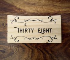 Custom Wood Print House Number/Address by TheWoodPrint on Etsy