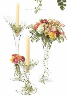 wedding decor with beads | ... in candleholder. Unique and simple table decoration for a wedding