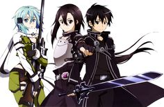 Anime Sword Art Online II  Kirito (SAO) Sinon (SAO) Wallpaper