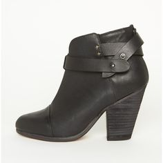 Rag & Bone Harrow Boot ($396) ❤ liked on Polyvore featuring shoes, boots, ankle booties, heels, sapatos, ankle boots, cont black, black leather booties, black high heel booties and heeled booties