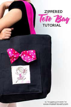 Tutorial: Zippered tote bag for kids