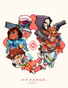 """onemegawatt: """" Which is your favorite class? (Support all the way for me) You can also get them as keychains, along with some of my other Overwatch stuff here >> http://onemegawatt.tictail.com/"""