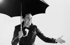 Tom Hiddleston with Umbrella
