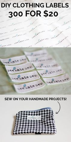 clothing labels for the masses tutorial My most frequently asked question is about my clothing labels. Where did you get them? Did you make them? I did make them. And it was really easy. And the price was right. You can't beat $20 for this many quality clothing labels and that's a fact! I've also …