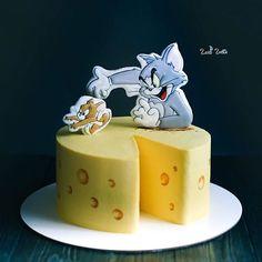 1st Bday Cake, Cupcake Birthday Cake, Easter Cupcakes, Fun Cupcakes, Cupcake Cakes, Tom And Jerry Cake, Tom E Jerry, Pretty Cakes, Beautiful Cakes