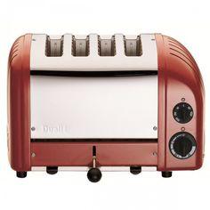 Dualit 4 Slice NewGen Toaster, Red   Food Network Store