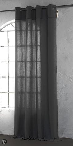 ByTzum Kant en klaar gordijn Gaupe - Grijs 140 x 270cm