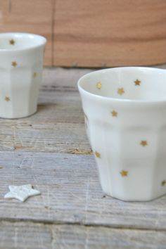 Star ceramic cups