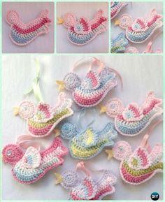 DIY Crochet Bird Ornament Free Pattern - Crochet Christmas Ornament Free Patterns