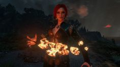 I'm a big fan of Witcher games and books. My favorite character is Triss Merigold, but I'm a sucker. Witcher 3 Wild Hunt, The Witcher 3, Triss Merigold, Female Elf, Geralt Of Rivia, Hail Storm, Fantasy Characters, Concert, Spain