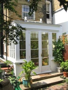conservatory utility lean to Small Conservatory, Conservatory Extension, Conservatory Kitchen, Orangery Extension Kitchen, Small Sunroom, Orangerie Extension, Sas Entree, Victorian Terrace, Lean To