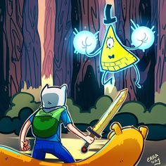 Finn and Jake vs Bill Cipher 45 minutes sketch…seriously