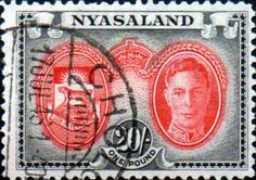 Nyasaland 1945 King and Emblem SG 157 Fine Used SG 157 Scott 79 Condition Fine Used Only one post charge applied on multiple purchases Details King