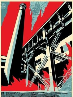 Shepard Fairey Fossil Factory Print Poster Greater We The People Obey Art 2017 S/N'd Obey Prints, Art Prints, Screen Print Poster, Poster Prints, Posters, Shepard Fairey Obey, Obey Art, Arte Nerd, Propaganda Art